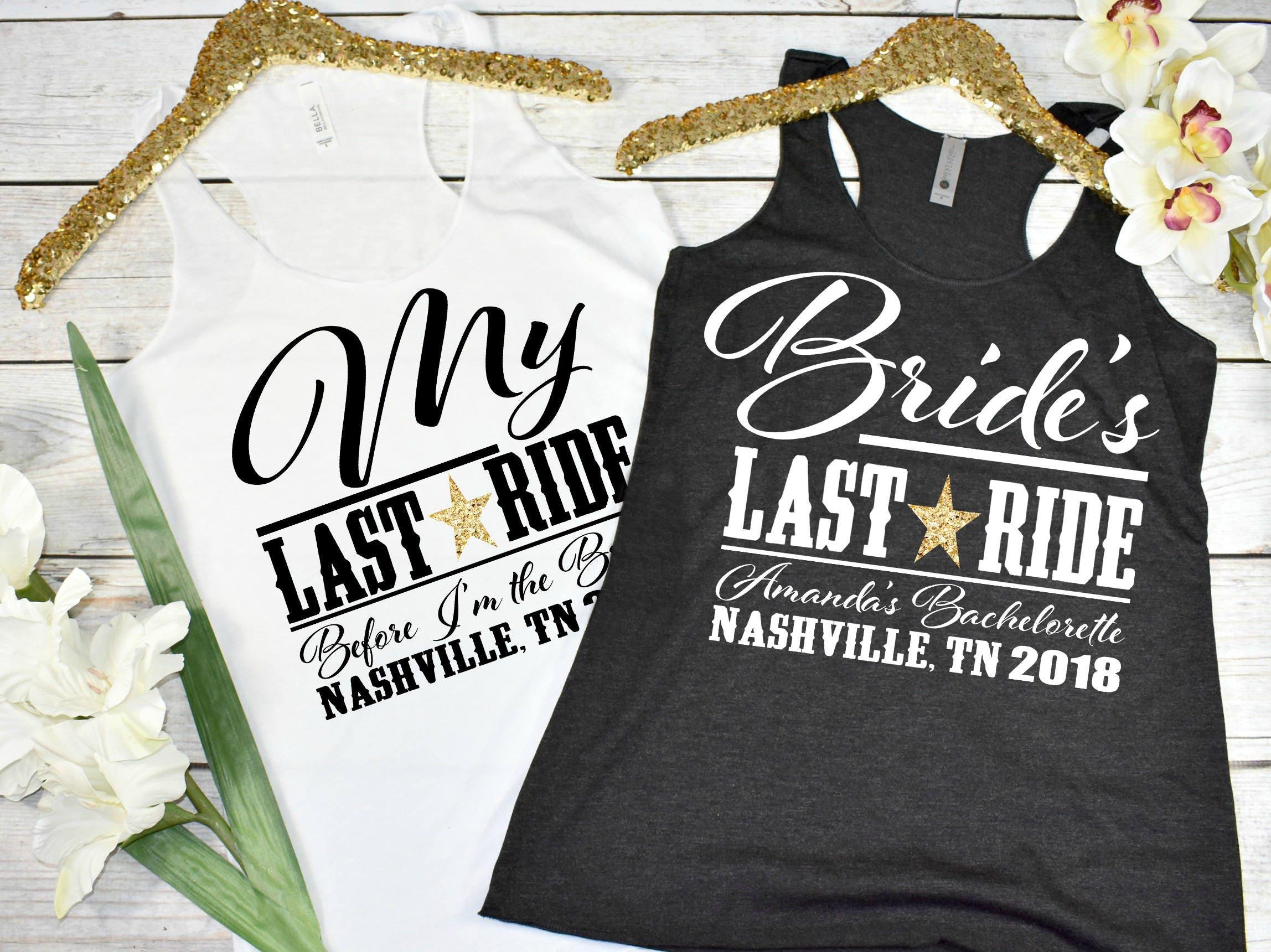 Bride's Last Ride Custom Bachelorette Party Shirts