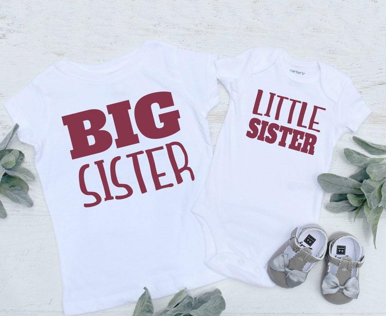 Big Sister Little Sister Shirts S90 Sister Shirts Newborn Announcement Shirts Big Sister Announcement Shirts Matching Sister Shirts