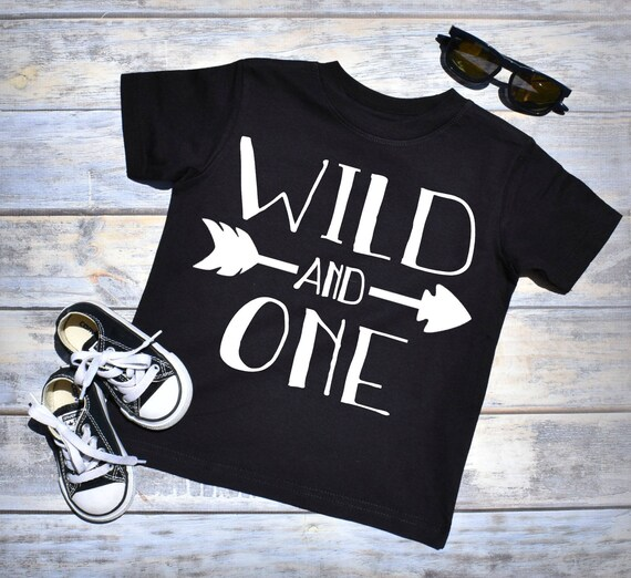 Wild And One 1st Birthday Shirt Boy