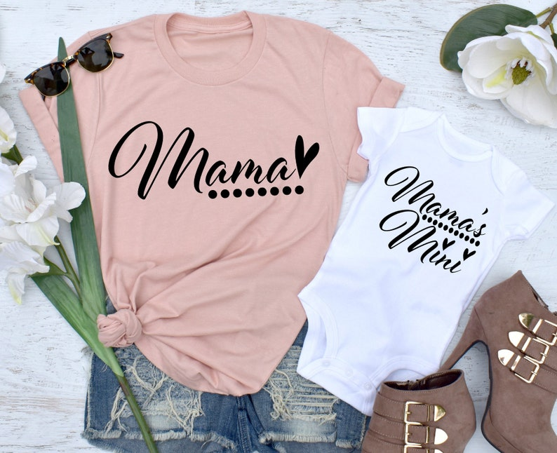 a1d920281c Mama Shirt Mama's Mini Mommy and Me Outfits Matching   Etsy