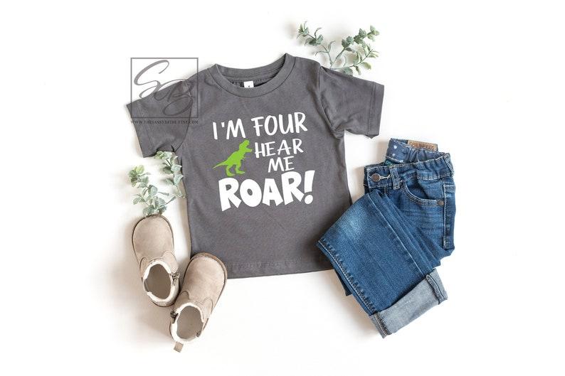 2672ab6a3 I'm Four Hear Me Roar 3rd Birthday Boy 3rd Birthday | Etsy