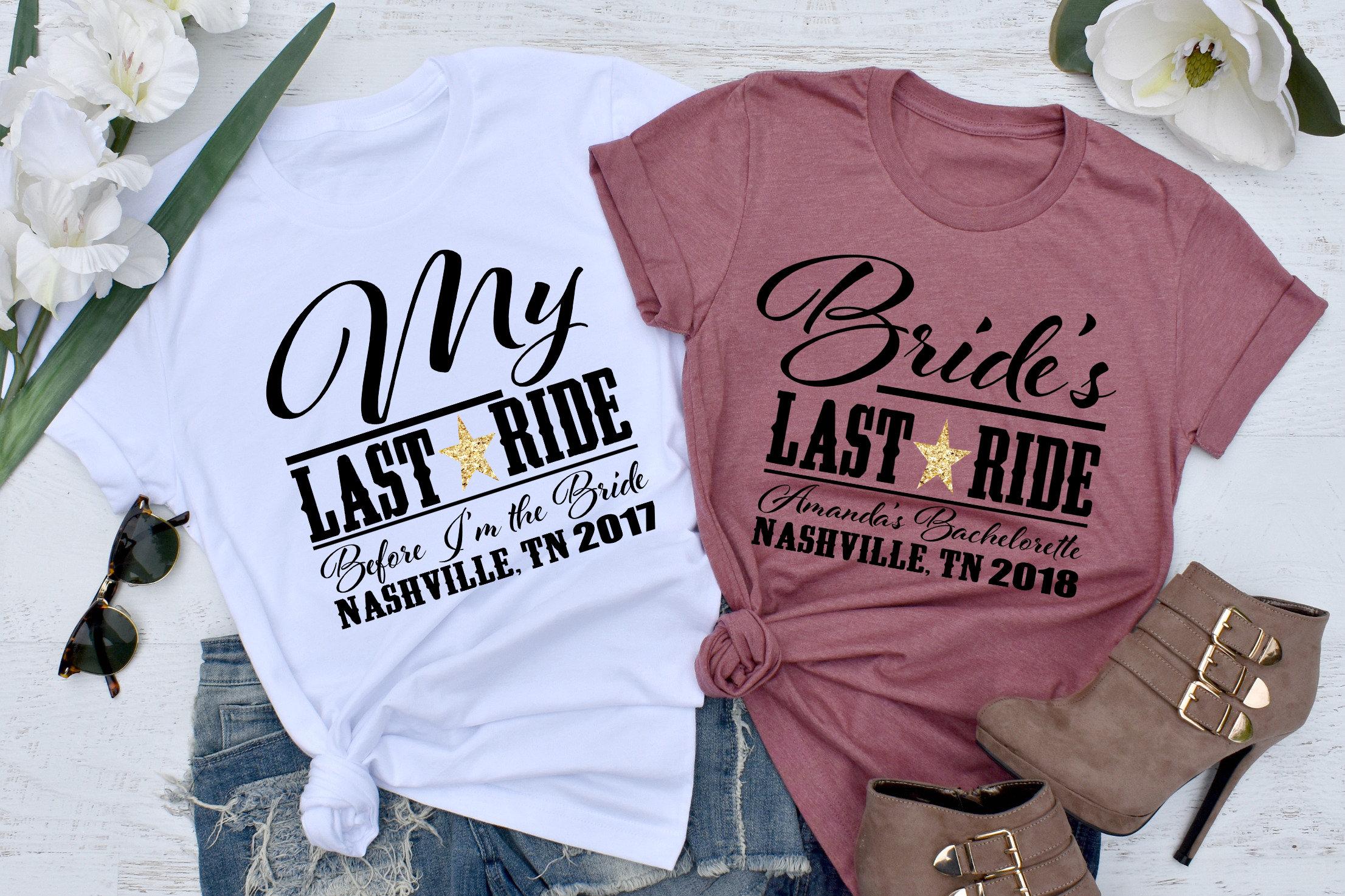 Bride s Last Ride UNISEX FIT Custom Bachelorette Party  5816a782a5ab9