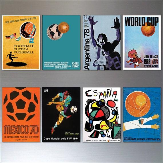 Plakaty Pucharu świata W Piłce Nożnej Lodówka Magnesy Zestaw 8