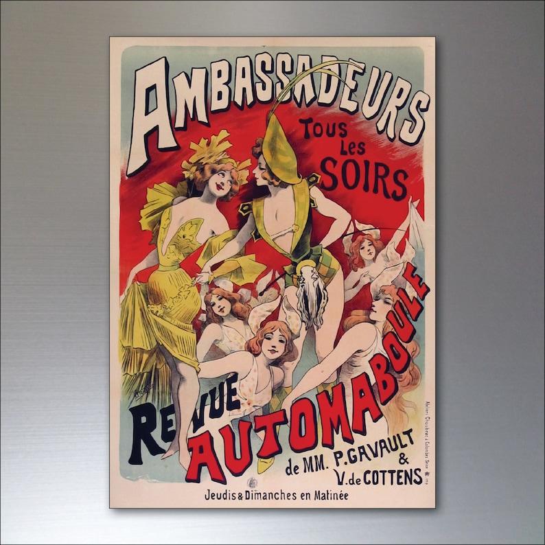 No.3 A set of 8 Vintage French Art Nouveau Bohemian Poster Prints Fridge Magnets
