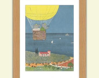 Babar A3 Satin Luxury Print reproduction Illustration - Jean de Brunhoff No.2