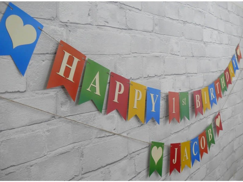Posted within 1 day of order. Personalised MULTI COLOURED BUNTING For Birthdays