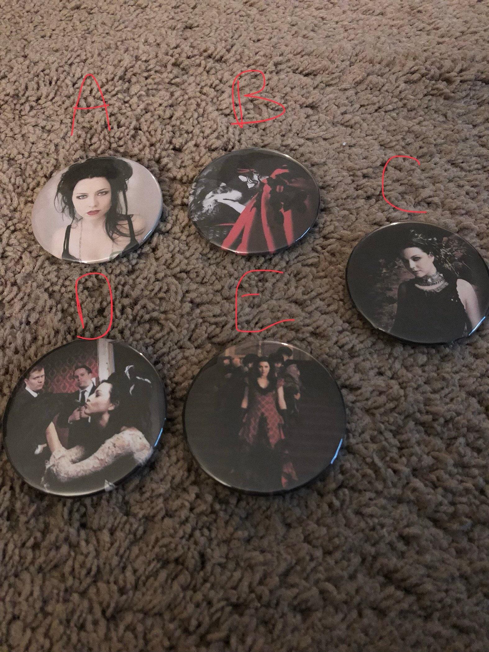 Evanescence Amy Lee Pinback 225 Etsy