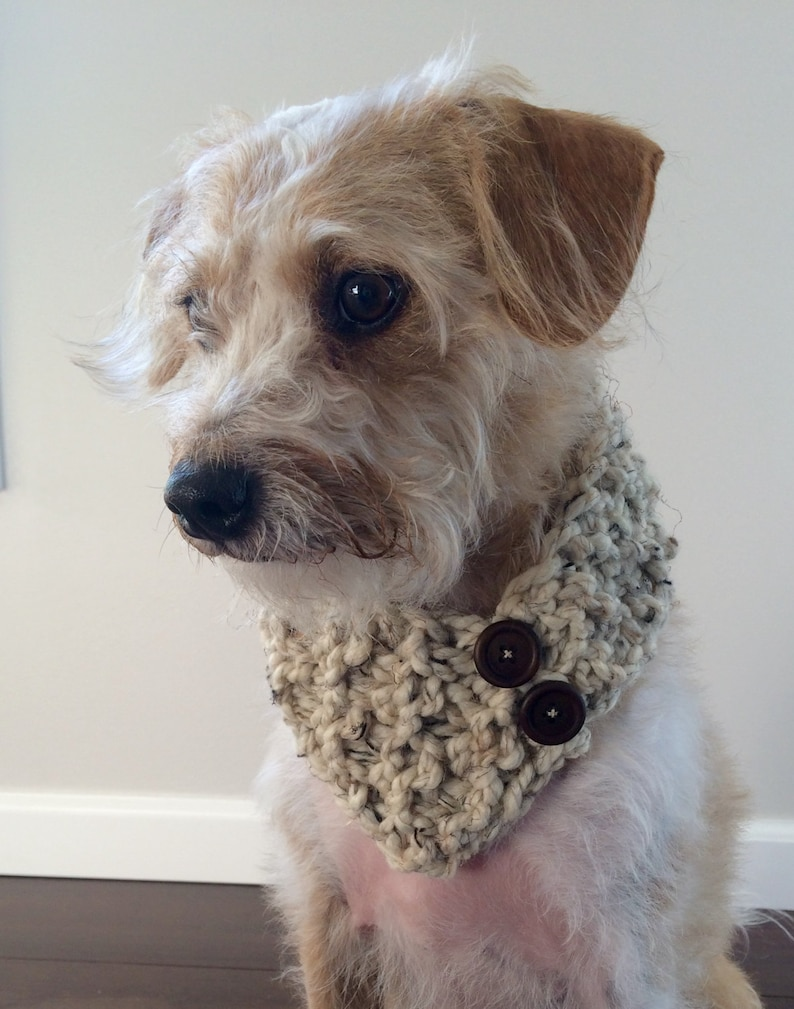 Doggy Scarf Dog Scarf Knit Pet Scarf Dog Bandana Pet image 0