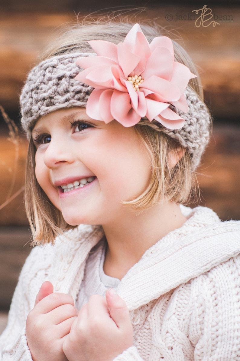 3fd50fd4a ¡ VENTA! Rosa Dalia-Kids punto tejer diadema diadema-niños oído venda del  calentador-niño-pelo accesorio, turbante de bebé niña, Little Girl ...