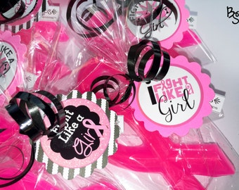 10 Pink Ribbon Soap Favor, Breast Cancer Awareness Favors, Charity Event, Susan G. Komen