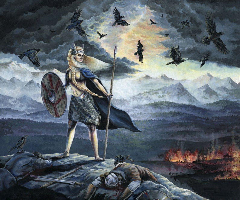 Geirsk\u00f6gul Valkyrie  Viking Print