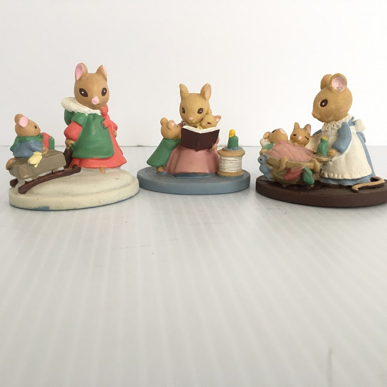 3 Avon FOREST FRIENDS Mice  Sleigh Ride  StoryTime  All image 0