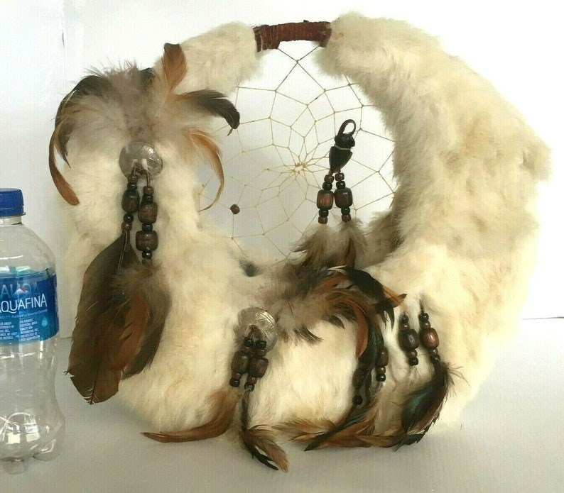 Fur and Feather Dream Catcher Spirit Basket Northern Plains image 0