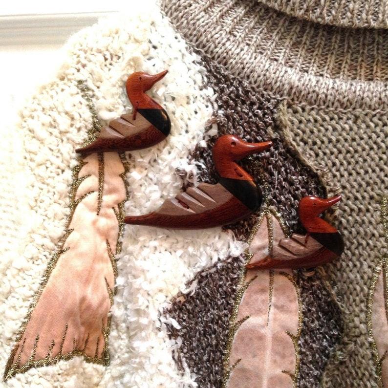 Vtg 1980s Mariea Kim pullover Turtleneck Sweater applique image 0