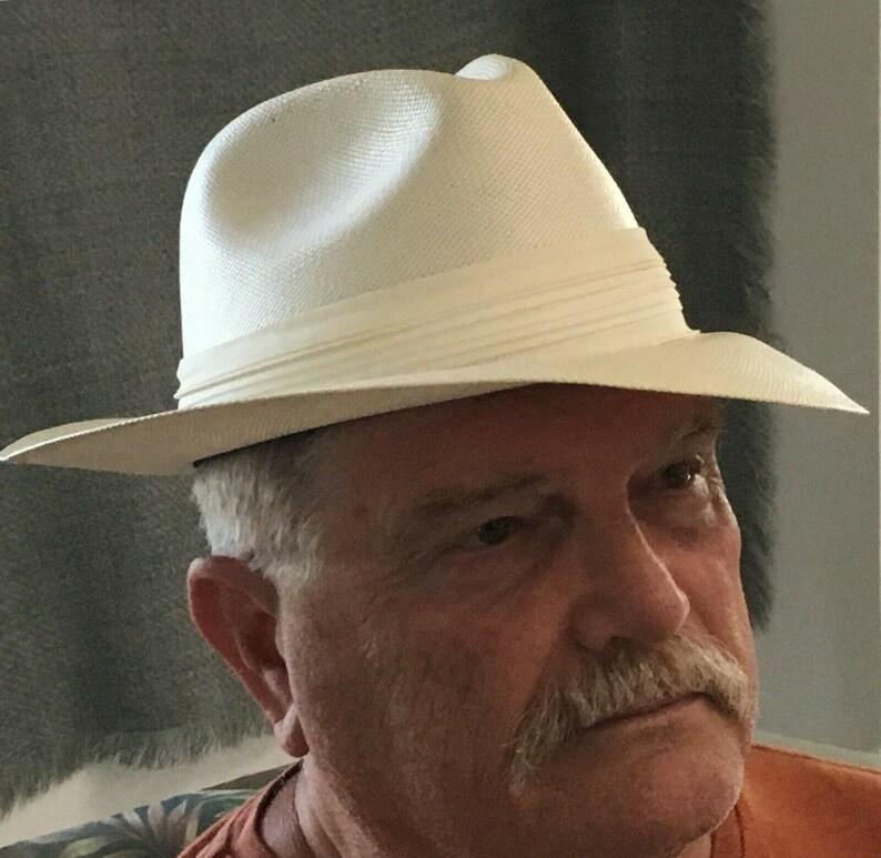 Pacific Panama Hat Ivory Ecuadorian Style image 0