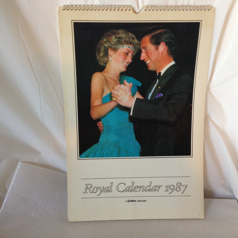Princess Diana & Prince Charles UK Royal Family 1987 Wall image 0