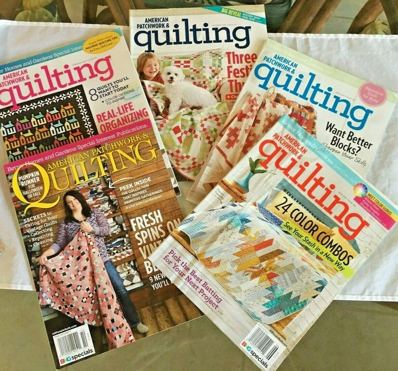 Quilting Magazine LOT of 5 BHG  American Patchwork & Quilting image 0