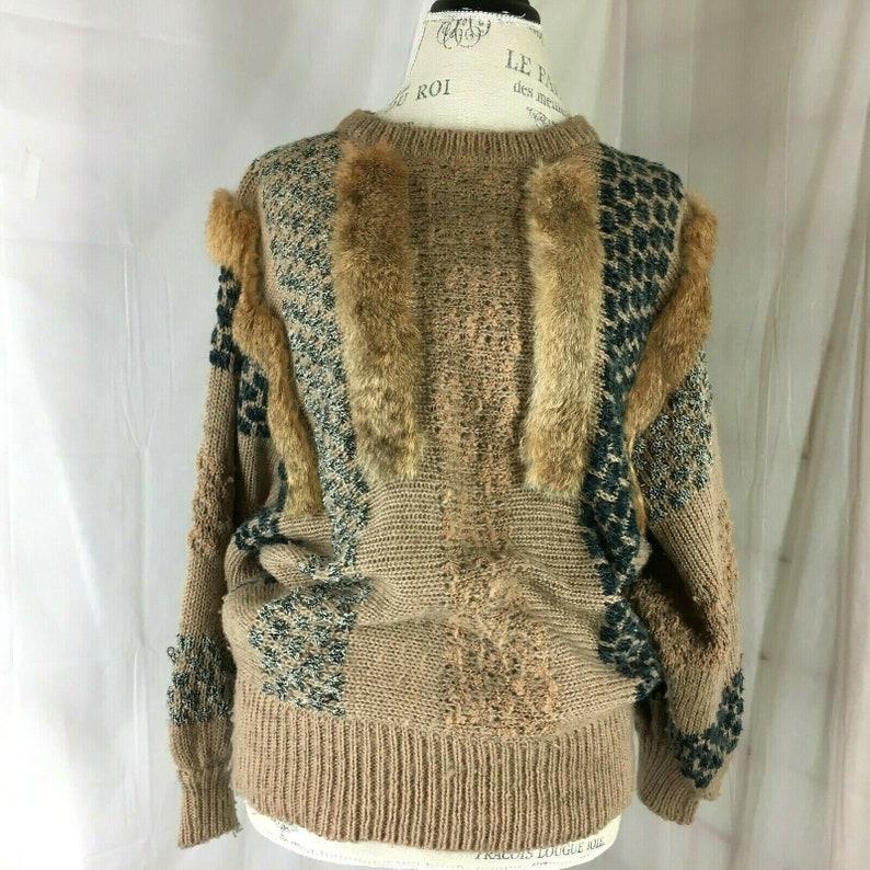 Vintage 1980s Mariea Kim Sweater size Large image 0