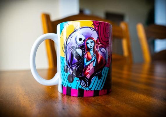 Nightmare Before Christmas Coffee Mug.Jack And Sally Coffee Cup Nightmare Before Christmas Coffee Mug Halloween Coffee Mug