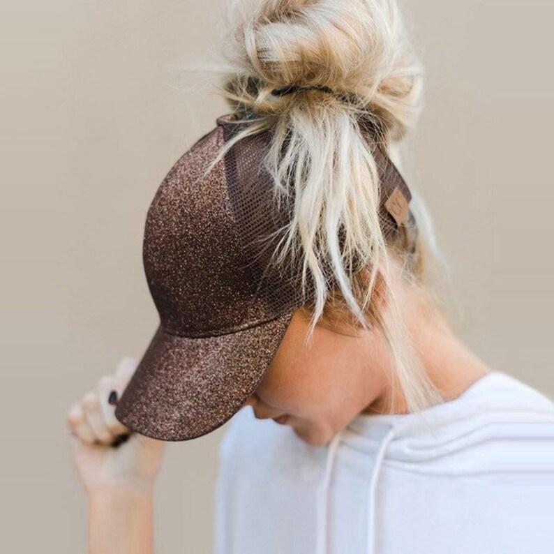 Ponytail Hats   Monogram Glitter Ponytail Hat    Glitter CC  1156a75bba6