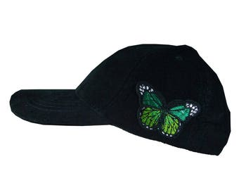 Corduroy Baseball Cap Hat Cord Medium Size Butterfly Patch Ladies Unisex 64d794bdacbc