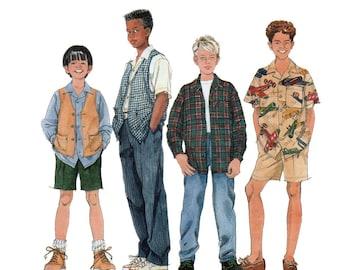 Boys Shirt, Vest, Pants and Shorts Sewing Pattern Child Size 7, 8, 10 UNCUT Simplicity 7224