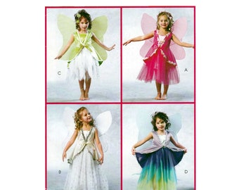 Girl's Fairy and Angel Costume Sewing Pattern Child Size 2-3-4-5 UNCUT McCall's MP272