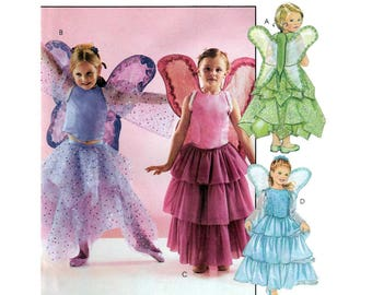Girl's Fairy Costume Sewing Pattern, Child Size 3-4-5-6-7-8 UNCUT McCall's 4144