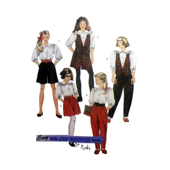 Nähen Muster Hosenrock Hose Bluse und Weste | Etsy