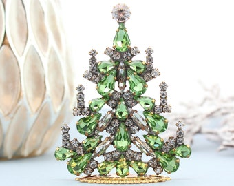 Czech Rhinestone Christmas Tree Vintage christmas decoration Crystal christmas tree ornaments Jeweled christmas tree tabletop christmas tree