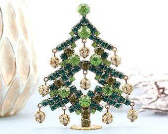 Czech rhinestone christmas tree, Vintage Christmas Tree, Vintage Rhinestones Jewelry Crystals unique Christmas Tree decorations jeweled tree