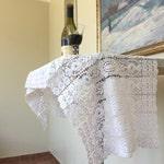 Huge Vintage White Lace 124cm x 38cm