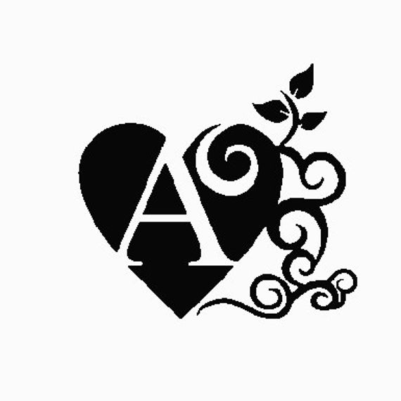 A Fancy Letter A Embroidery Design 4x4 Etsy