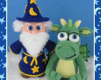 Wizard and Dragon (PDF file only, this is not the finished doll)