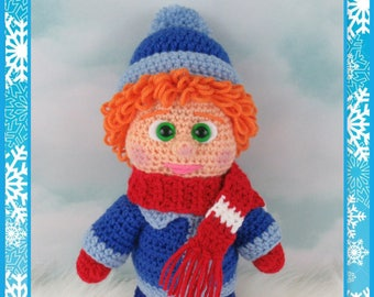 Winter Boy Amigurumi (PDF File only, this is not the finished doll)