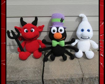Big Scary Spider Cat Toy//Decor//Crochet Pattern
