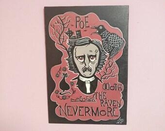 Edgar Allan Poe  wooden  Signal