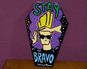 Wooden Fridge Magnet Johnny Bravo