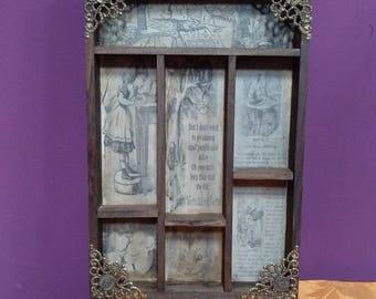 Alice in Wonderland Cabinet of curiosities