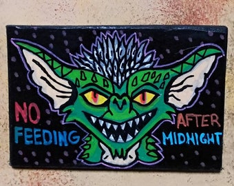 Wooden Fridge Magnet Gremlins