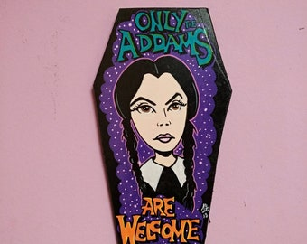 Wooden Coffin Wednesday Addams (Small Size)