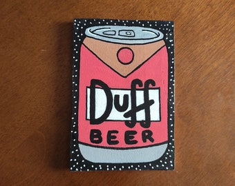 Duff Beer  Wooden Fridge Magnet