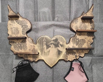 Cupid's Garden Shelves & Hanger. LIMITED EDITION 1 unit.