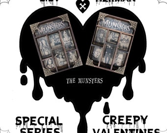 2 Cabinet of Curiosities: Creepy Valentines THE MUNSTERS