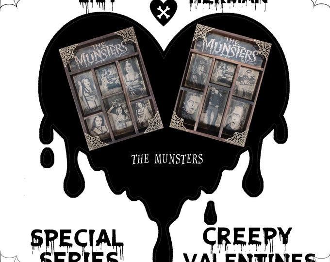 Featured listing image: 2 Cabinet of Curiosities: Creepy Valentines THE MUNSTERS