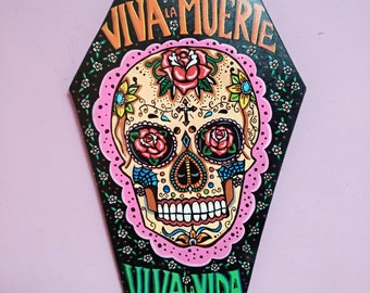 Viva la Vida Wooden Coffin