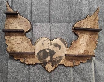 Poe's Heart Shelves & Hanger. LIMITED EDITION 1 unit.