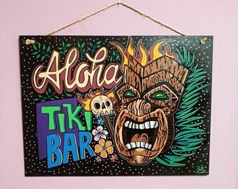 Aloha Tiki Bar wooden Coffin Signal