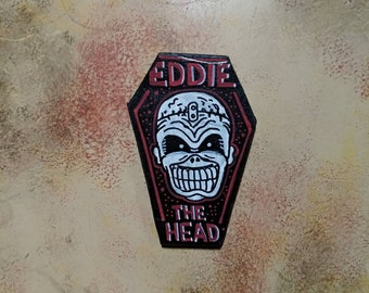 Wooden Fridge Magnet Eddie The Head