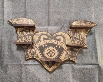 Ouija Shelves & Hanger- one of a kind